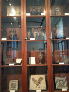 Old style museum display case in Berlin