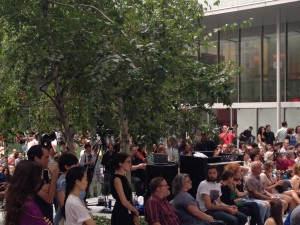Concert in the garden at the Museum of Modern Art on a Thursday in August