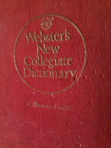 The dictionary I go when I graduated from high school.