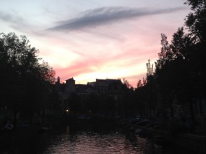Sunset in Amsterdam last summer.