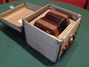 The concertina in its box.