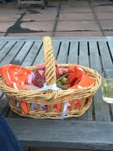 My sunset snack basket.
