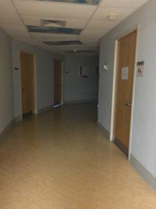 A silent & dark corridor.