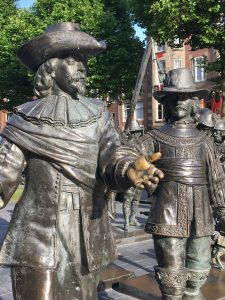 The characters in Rembrandt's painting The Nightwatch in statue form. What stories did THEY tell?