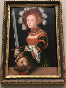 Cranach the Elder's 'Judith with the Head of Holofernes' at the MET Museum in NYC.