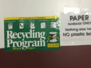 Recycling in the basement of my building in NYC.