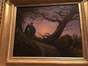 There's a story in this painting by Caspar David Friedrich, entitled Two Men Contemplating the Moon