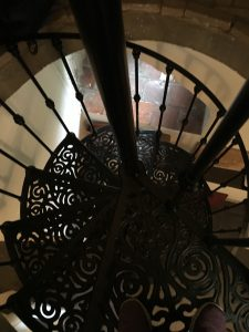 A spiral staircase in Amsterdam. Questions reveal as much about the inquisitor as about the queried.